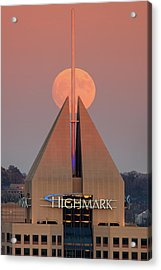 Acrylic Print featuring the photograph Harvest Moon In Pittsburgh  by Emmanuel Panagiotakis