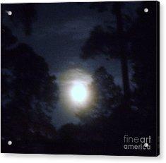 Harvest Moon Acrylic Print by Leslie Revels