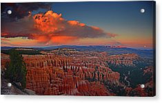 Harvest Moon Over Bryce National Park Acrylic Print