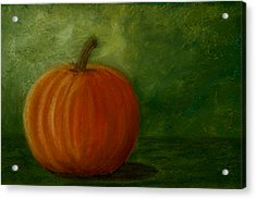 Harvest Moon Pumpkin Acrylic Print by Cheryl Albert