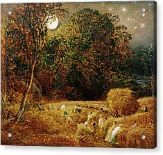 Harvest Moon Acrylic Print by Samuel Palmer