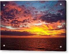 Harvest Sunrise In The Gulf  Acrylic Print by Bill Perry