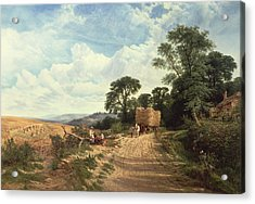Harvest Time Acrylic Print by George Vicat Cole