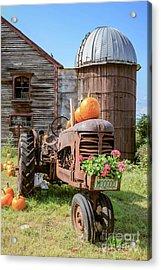 Harvest Time Vintage Farm With Pumpkins Acrylic Print