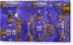 Harvesting Hydrogen Acrylic Print by Robby Donaghey