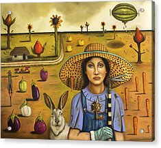 Harvey And The Eccentric Farmer Acrylic Print by Leah Saulnier The Painting Maniac