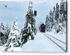 Harz Ballooning And Brocken Railway Acrylic Print by Andreas Levi