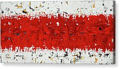 Acrylic Print featuring the painting Hashtag Red - Abstract Art by Carmen Guedez