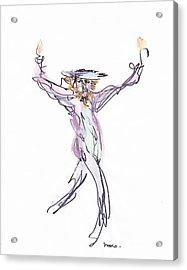 Hasidic Dancer Acrylic Print