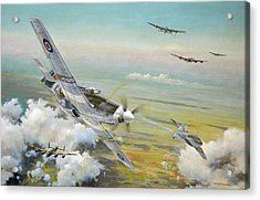 Haslope's Komet Acrylic Print by Colin Parker