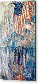 Hassam Avenue In The Rain Acrylic Print
