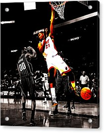 Hassan Whiteside Acrylic Print by Brian Reaves
