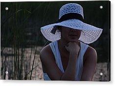 Hat At Sunset Acrylic Print