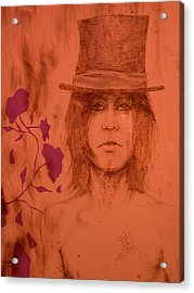 Hat Boy Acrylic Print by J Oriel
