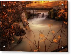 Hat Creek In Gold Acrylic Print