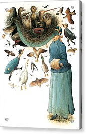 Hat Acrylic Print by Kestutis Kasparavicius