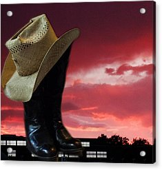 Hat N Boots 11 Acrylic Print by Chuck Shafer