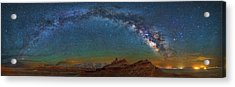Hat Rock Milky Way Acrylic Print