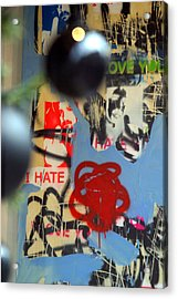 Hate Love Hate Love Acrylic Print by Jez C Self