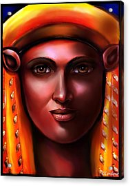 Hathor -egyptian Goddess Acrylic Print by Carmen Cordova