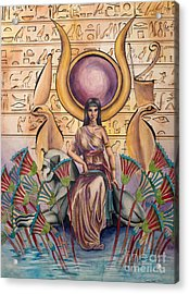 Hathor Acrylic Print by Georges Loewenguth