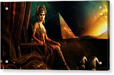 Hathor Acrylic Print by Pharaoh Laboa