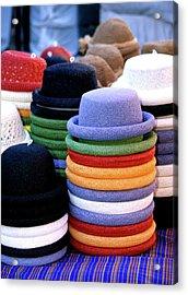 Hats, Aix En Provence Acrylic Print