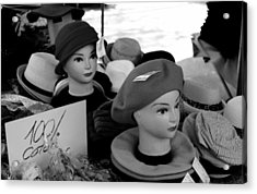 Hats And Heads Acrylic Print by Tony Grider