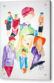 Hats Acrylic Print