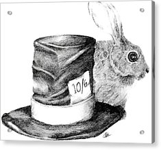 Acrylic Print featuring the drawing Hatter And The Hare by Meagan  Visser