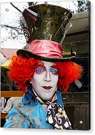 Hatter Acrylic Print by Clarence Alford