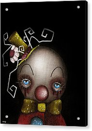 Hatter Clown Acrylic Print by  Abril Andrade Griffith