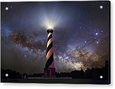 Hatteras Lighthouse And Milky Way Acrylic Print