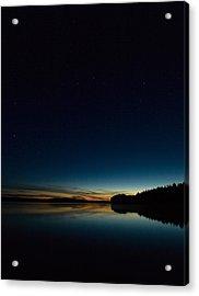 Acrylic Print featuring the photograph Haukkajarvi By Night With Ursa Major 2 by Jouko Lehto