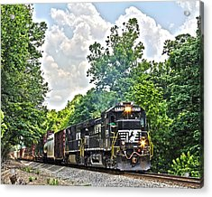 Hauling Freight Acrylic Print