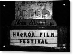 Haunted Drive In Acrylic Print by David Lee Thompson