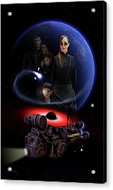 Acrylic Print featuring the digital art Haunted Empire by Jeremy Martinson