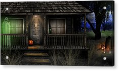 Acrylic Print featuring the digital art Haunted Halloween 2016 by Anthony Citro