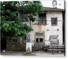 Haunted House In Bulgaria Acrylic Print by Valia Bradshaw