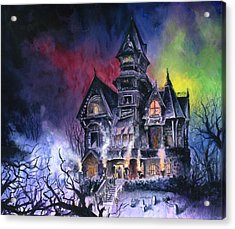 Haunted House Acrylic Print by Ken Meyer jr