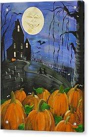 Haunted Night Acrylic Print by Sylvia Pimental