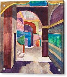 Havana Courtyard Acrylic Print by Lynne Bolwell