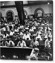 Havana Cuba - Cigars Being Rolled - C 1903 Acrylic Print by International  Images