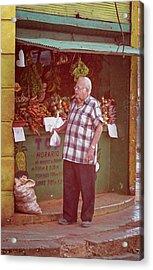 Acrylic Print featuring the photograph Havana Cuba Corner Market by Joan Carroll