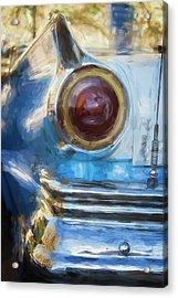 Acrylic Print featuring the photograph Havana Cuba Vintage Car Tail Light Painterly by Joan Carroll