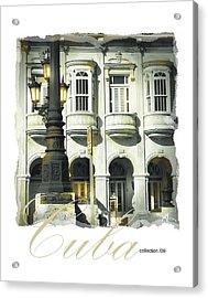 Havana Facade Acrylic Print by Bob Salo