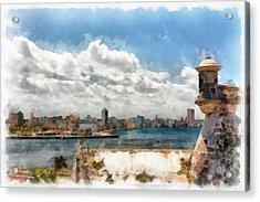 Havana From El Morro Acrylic Print