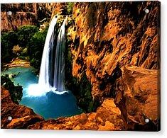 Havasu Waterfall Acrylic Print