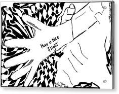 Have A Nice Flight....maze Cartoon By Yonatan Frimer Acrylic Print by Yonatan Frimer Maze Artist