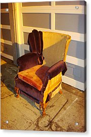 Acrylic Print featuring the photograph Have A Seat In Dore Alley by Mr Photojimsf